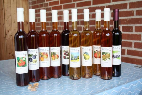 Sortimentsauswahl-Baltica-Saft-Weinmanufaktur